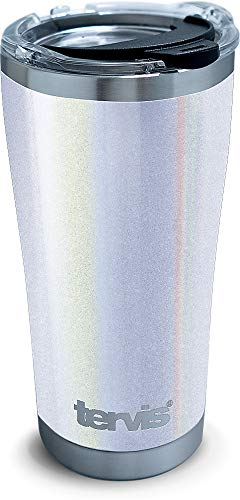 Shimmer White 20 oz Stainless Steel Tumbler with lid