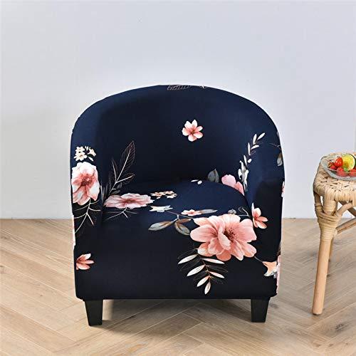 HGFHGD Curvado elástico sofá cubierta redonda sola silla cubierta hotel Internet café club bar antideslizante único asiento cubierta Color13