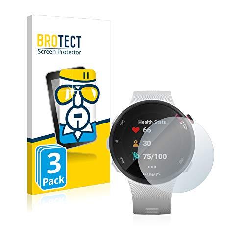 BROTECT Protector Pantalla Compatible con Garmin Forerunner 45S Cristal Templado (3 Unidades) Dureza 9H