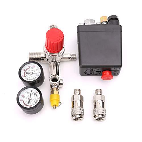 ZJL220 Válvula de Interruptor de Control de presión del compresor de Aire 0.5-1.25MPa con regulador y manómetros