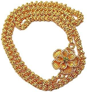 Ramega Trends Stylish Trendy Roja BallsChain/ Dasavathar Mugappu Chain/Magudam Flower Mugappu chain For Women(24 INCH)Fanc...