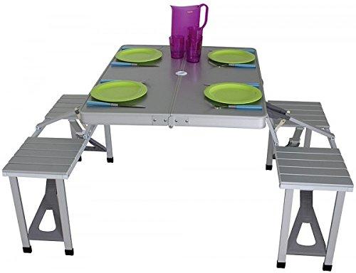 Eurotrail picknicktafel Limoux zilver - verkoop door Holly producten STABIELO -