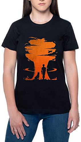 Nuclear Guerra Negro Mujer Camiseta Mangas Cortas Tamaño XXL Womens T-Shirt Black Size XXL