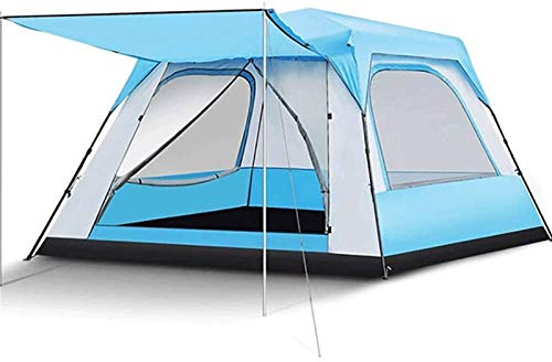 Plztou Tent for Camping Family Camping Tent Waterproof Tent With Awning, Easy and Quick Setting, Professional Waterproof and Windproof, Lightweight Carrying Bag Shielded Awning