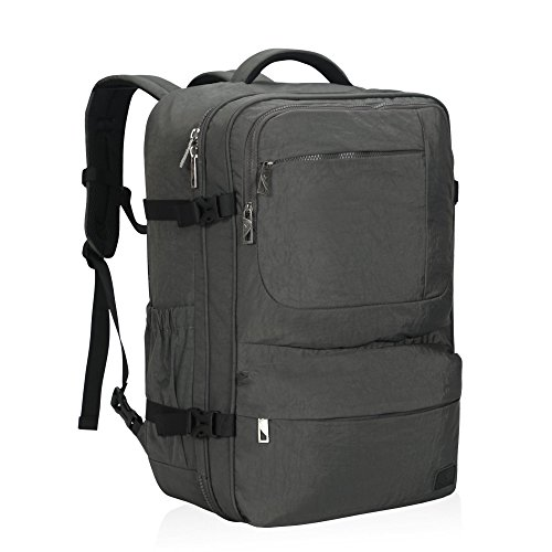 Hynes Eagle 44L Carry on Backpack Flight Approved Compression Travel Pack Cabin Bag, Grey