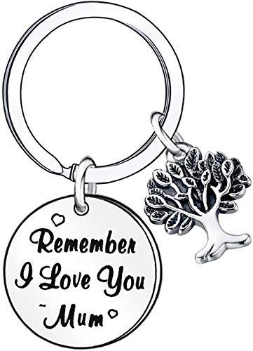 Portachiavi con albero genealogico per madre e figlia, regalo di Natale, regalo per la festa della mamma