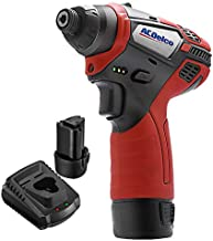 ACDelco 1/4'' Power Impact Driver Cordless Li-ion 12V Tool kit with Charger, 2 Batteries, and Carrying Case, G12 Compact Series – ARI12105