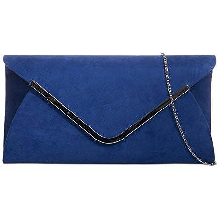 fi9® Einfarbige Handtasche, Unterarmtasche, Wildleder, für Hochzeit, Abendveranstaltungen, Partys