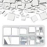 PandaHall 119 piezas de azulejos cuadrados de cristal para decoración del...
