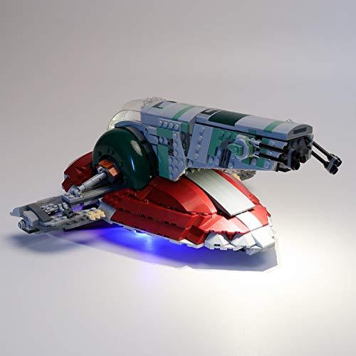 ADMLZQQ LED Light Kit para Lego 75243, Iluminación Building Blocks Ladrillos para Lego Star Wars Slave I Building Kit (Modelo NO Incluido)