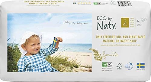 Talla 5 0/% pl/ásticos derivados del petr/óleo en contacto con la piel. Pa/ñal ecol/ógico premium hecho a base de fibras vegetales 11-25kg Eco by Naty 80 pa/ñales