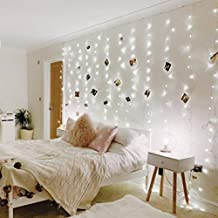 LE LED Curtain Lights, 9.8x9.8ft, 306 LED, 8 Modes, Plug in Twinkle Lights, Cool White, Indoor Outdoor Decorative Wall Window String Lights for Bedroom, Party, Wedding Backdrop, Patio Décor and More