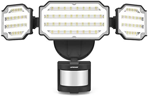LEPOWER 45W LED Security Lights Motion Sensor Light Outdoor 4500LM Motion Flood Light 5000K product image