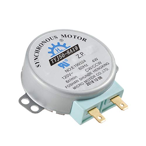 Microwave Oven Turn Table Synchronous Motor for TYJ50-8A19 Compatible with Panasonic F63265G60AP NN-SD797S NNSD372S For Frigidaire For Sanyo 120V 60HZ UL Listed 2018 Produced Well Protected By Box