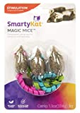 SmartyKat, Magic Mice, Cat Toys, Compressed Catnip Toys, Pure, Potent, Mess-Free, With Ribbons, Set of 3
