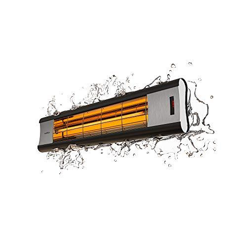 Veito Aero S Infrarot Heizstrahler , Leistung bis zu 2500 Watt , Infrarot-Fernbedienung , Terrassenheizer mit 4 Heizstufen , spritzwassergeschützt , Infrarot-Heizung für Innen- und Außenbereich , elektrischer Infrarotstrahler - 5