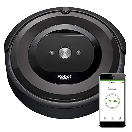 iRobot Roomba E5 (5150) Robot Vacuum - Wi-Fi Connected, Works with Alexa, Ideal for Pet Hair, Carpets, Hard, Self-Charging Robotic Vacuum, Black (Renewed)