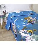 10XDIEZ Colcha Verano Frozen 2 - Medidas colchas/edredones - Cama de 90cm