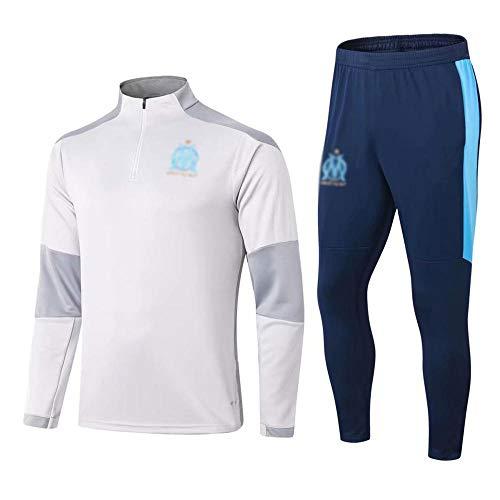 MVNTOO Club de fútbol Europeo, Camiseta de fútbol para Hombre, Camiseta de Entrenamiento Hecha por Aficionados.-Blanco A_S