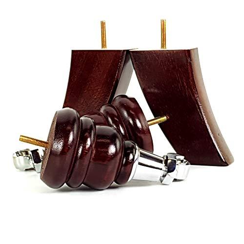 CanapÉs 4x Meuble en bois JAMBES//pieds chromé roulettes M8 8 mm Canapé Chaises