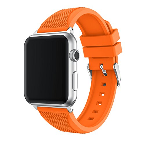 TOPsic Compatibile con Cinturino Apple Watch 38mm/42mm, Braccialetto Silicone per iwatch Series 3/2/1