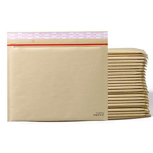 KAMMAK クッション封筒 クラフト(茶)ネコポス最大(300枚入り)開封テープ付き 商品サンプル B5書類 雑貨 対応 防塵性 耐震性よい気泡緩衝材