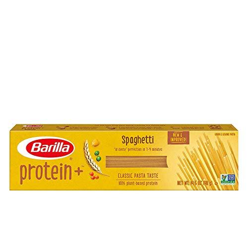 BARILLA Protein+ (Plus) Spaghetti Pasta - Protein from Lentils, Chickpeas & Peas - Good Source of Plant-Based Protein - Protein Pasta