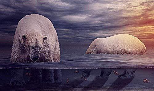 Adultos Rompecabezas De 1000 Piezas Pesca De Agua De Oso Polar Juguete Educativo Intelectual De Descompresión Divertido Juego Familiar Para Niños Adultos