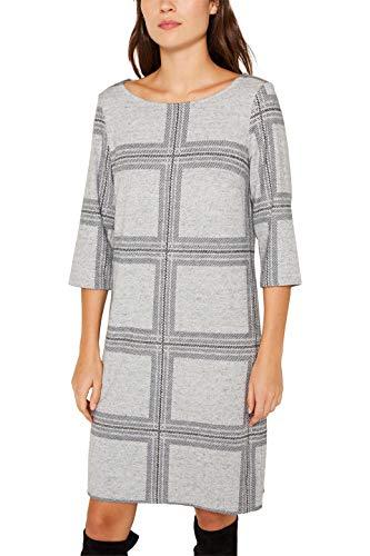 ESPRIT Damen 119EE1E008 Kleid, Grau (Light Grey 4 043), Medium (Herstellergröße: M)