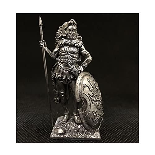 LXX Figuritas Desktop Tin Metal Soldado Griego Mitología Roma Hércules Atenas Personaje Modelo Adornos Escultura Estatua Coleccionables (Color : Bronze)