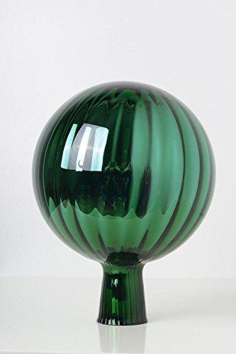 Rosenkugel aus Glas für den Garten – perfekte handgemachte Garten-Dekoration für Ihr Blumenbeetin vielen Farben, Formen und Größen, Hoche 21cm und Durchschnittlich 15cm, Grün