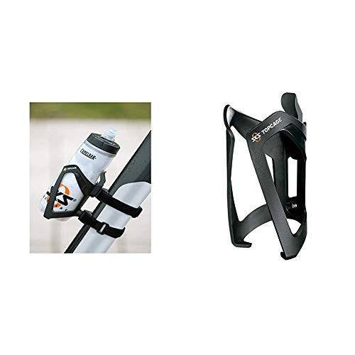 SKS Adapter Anywhere mit Topcage, Schwarz, 10 x 10 x 25 cm, 11231 & Top Cage Flaschenhalter, schwarz, one Size
