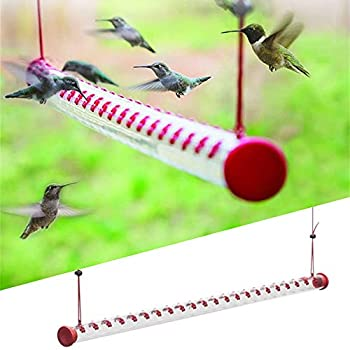 LEFUYAN Bob s Best Hummingbird Feeder Bird Feeder with Bright Red Transparent Tube Easy to Clean for Outdoors Deck Patio Garden