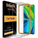 [3 Pack] UniqueMe Protector de Pantalla Compatible con Xiaomi Redmi Note 9S / Note 9 Pro/Note 9 Pro Max Cristal Templado [Sin Burbujas] HD Vidrio Templado Equipado con Marco de Posicionamiento