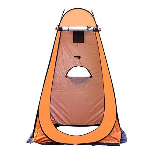 XLBHSH Privacidad Carpa, Privacidad Ducha Tienda Tienda Cambio portátil Tienda Pop-Up Ducha Privacidad Refugio Tienda Cambio a Prueba de Agua para Sun Shelter Beach Camping,Naranja