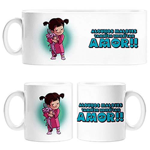 Diver Tazas Taza Parodia de Monstruos SA Algunos malotes también Necesitan Amor - Cerámica