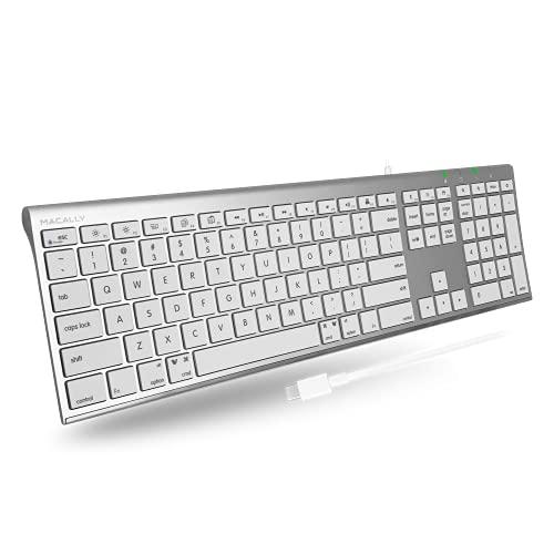 Macally UCACEKEY-US, Tastiera USB-C Ultrasottile per Mac, US QWERTY Key cap Layout