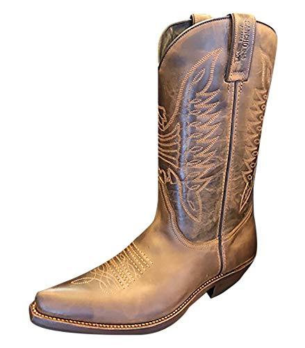 Sancho Boots Cowboydtiefel Westernstiefel 5236 Braun bereits besohlt (Numeric_45)