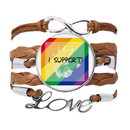 DIYthinker LGBT - Pulsera con bandera de arcoíris y cuerda para regalo