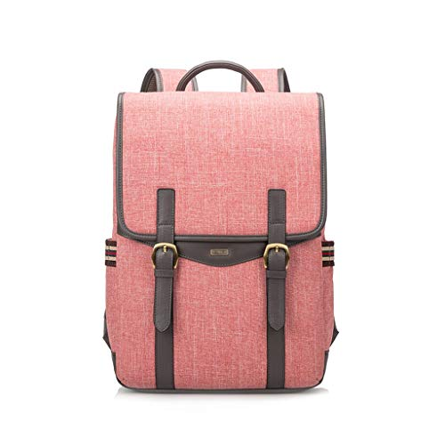 FH バックパック、大容量多機能フリップ型盗難防止バックパックコンピュータバックパック、事務作業、レジャーバックパック (Color : Watermelon red, Size : 15 inches)