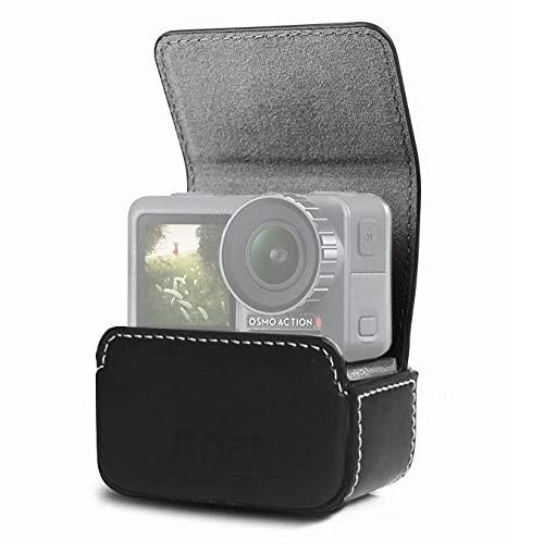 WXX Custodia Protettiva for Custodia in Pelle Mini Impermeabile for DJI New Action GoPro SJCAM Xiaomi Mi Jia (Nero) (Color : Black)