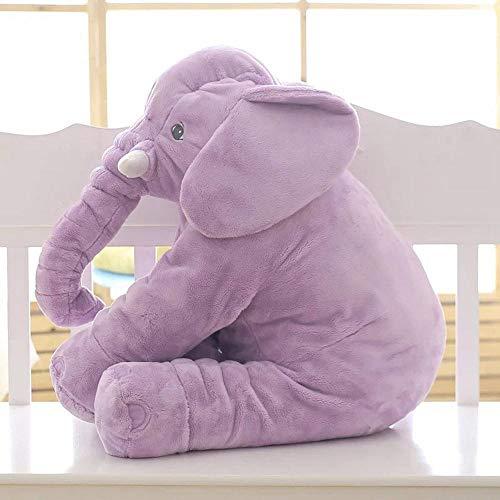 Belle 40 cm / 60 cm Infantile en Peluche éléphant Doux apaiser éléphant Playmate Calme poupée bébé Jouet éléphant Oreiller en Peluche Jouets en Peluche poupée 60 cm Violet