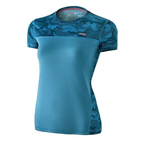 42K RUNNING - Camiseta técnica 42K MIMET Mujer Ocean Green Camouflage M