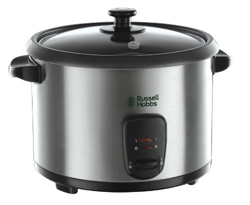 Russell Hobbs 19750 Rice Cooker and Steamer, 1.8 Litre, Silver