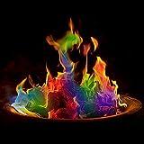 2 x magische Flammen, schafft bunte Vitalitäts-Flammen für Feuerstelle, Farbstoff, Party, Urlaub, Feuerstelle, Lagerfeuer, Lagerfeuer, Outdoor-Kamin mit buntem Flammenfarbpulver (2 x 30 g)