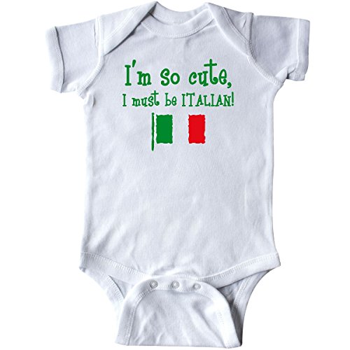 inktastic So Cute Italian Infant Creeper 6 Months White