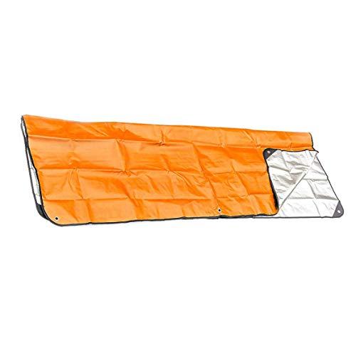 JohnJohnsen Couverture de Premiers Secours en Plein air Sac de Couchage d'urgence Isolation réfléchissant Orange Film aluminisé