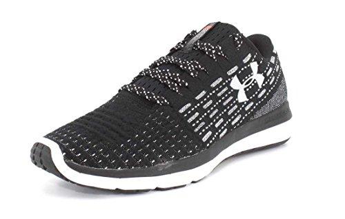 Under Armour Men's Threadborne Slingflex Sneaker, Black (004)/White, 10.5