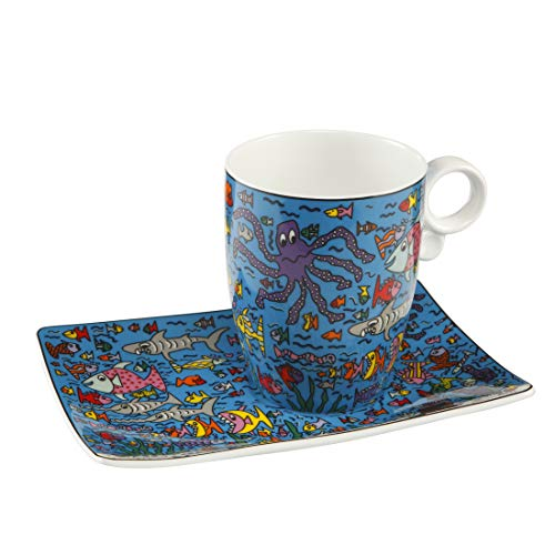 Goebel Under the Deep Blue Sea - Künstlerbecher Pop Art James Rizzi Bunt Fine Bone China 26102221