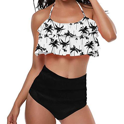 Zilosconcy 2019 Traje De Baño Mujer,Bikini Dividido para Mujer Bañador con Volantes Estampado a la Moda para Mujer Bikini Mujer Sexy Traje De Baño Mujer Beachwear Mujer Swimsuit
